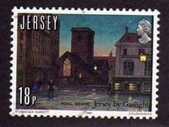 1981  18p   '150th ANN GAS LIGHTING IN JERSEY'   FINE USED