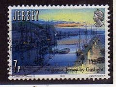 1981  7p   '150th ANN GAS LIGHTING IN JERSEY'   FINE USED