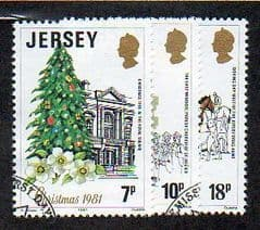 1981  SET   'CHRISTMAS' (3v) FINE USED