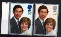 1981 U/M SET 'ROYAL WEDDING' (2v)