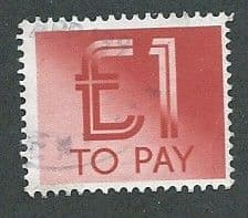 1982 £1.00 'RED'  TO PAYS    FINE USED