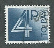 1982 4P 'DEEP BLUE'  TO PAYS    FINE USED