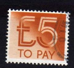 1982 £5.00 TO PAYS FINE USED