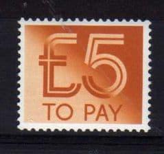 1982  £5.00  U/M TO-PAY' DULL ORANGE'