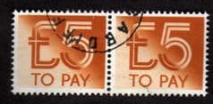 1982 PAIR OF £5.00 'TO PAY 'FINE USED