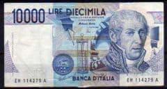 1984  10,000L ITALIAN CIRCULATED BANKNOTE (3-9-1984)