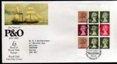 1984 'P&0 £5.00 BOOKLET PANE' F.D.C 'BUREAU