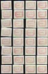 1984 U/M SET 'FRAMA LABELS' (32v)