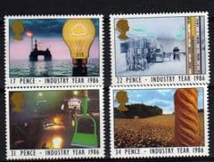 1986 U/M SET 'INDUSTRY YEAR' (4v)
