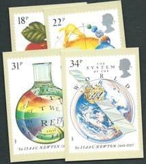 1987 SET 'SIR ISAAC NEWTON' MINT PHQ CARDS  4 PHQ CARDS