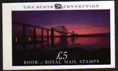 1989 £5.00 'THE SCOTS CONNECTION' PRESTIGE BOOKLET (DX10)
