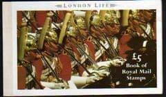1990 £5.00 ' LONDON LIFE' PRESTIGE BOOKLET (DX11)