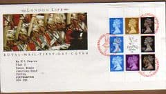1990 'LONDON LIFE' BOOKLET PANE FINE FDC