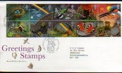 1991 'GREETINGS -GOOD LUCK ' GREETWELL PMK FDC