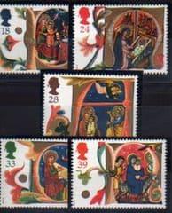 1991 U/M SET 'CHRISTMAS' (5v)
