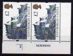 1992  2X £2.00 U/M CASTLES PLATE '4G'