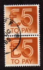 1992 PAIR OF  '£5.00 TO PAYS' FINE USED