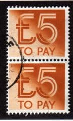 1992 PAIR OF   £5.00 TO PAYS FINE USED