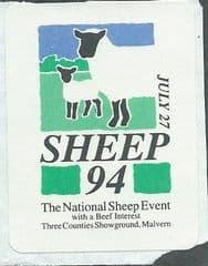 1994 'SHEEP 94' MALVERN LABEL