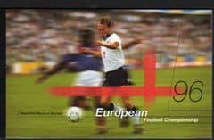 1996 (DX18) EUROPEAN FOOTBALL  PRESTIGE BOOKLET