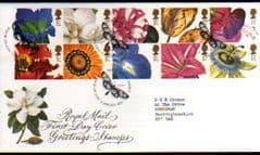 1997 'GREETINGS -FLOWERS' KEW, RICHMOND PMK FDC