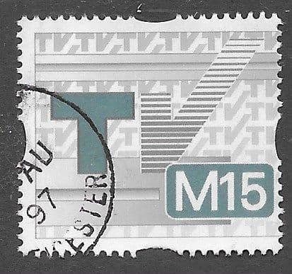 1997 M15 'T.V LICENCE STAMP' FINE USED
