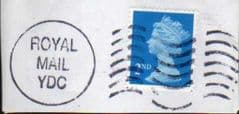 1998 2ND (S/A) 'BRIGHT BLUE'  WITH 'ROYAL MAIL YDC' FINE USED