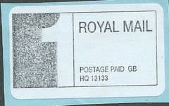 1ST CLASS' ROYAL MAIL POSTAGE PAID' LABEL  ( HQ13133)