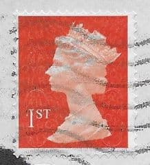 1ST (S/A) 'BT ORANGE RED ' (NO CODES) MACHIN FORGERY  USED