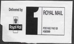 1ST (S/A) ROYAL MAIL POSTAGE PAID LABEL ( REF: HQ63069)