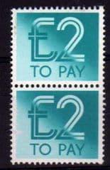 2 X £2.00 U/M 'POSTAGE DUES'