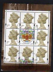 2000 'QUEENS MOTHERS 100TH BIRTHDAY' MACHIN PANE FINE USED