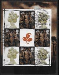 2000 'TREASURY OF TREES' ( MACHIN BKLT PANE' FINE USED