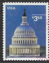 2001 $3.50 'CAPITOL, WASHINGTON FINE USED*