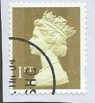 2002 1ST (S/A) CLASS 'GOLD' (2B) (PHOTO)(ON PIECE)  FINE USED