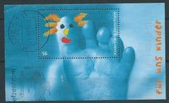 2002 'FOR US CHILDREN' M/S (POSTALLY USED)   FINE USED*