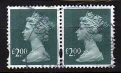2003 A PAIR OF £2.00 FINE USED