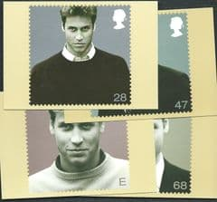 2003 SET 'PRINCE WILLIAM' MINT PHQ CARDS  4 PHQ CARDS