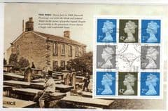 2005 DX 34 THE BRONTE SISTERS ,BOOKLET PANE  FINE USED