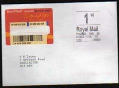 2006 1st 'ROYAL MAIL' WHITE LABEL (TR2)ON COVER