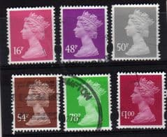 2007 6 X VALUES 16P -£1.00 RUBY.USED