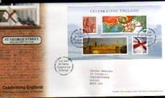 2007 'CELEBRATING ENGLAND' MS (ST GEORGES,TELFORD) F.D.C
