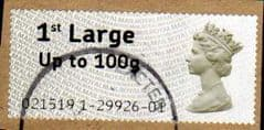 2008 1ST LARGE (UPTO 100g)' POST 'N' GO (LARGE FONT) FINE USED