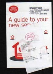 2008 'A GUIDE TO YOUR NEW SERVICE' LEAFLET (PL3584 Aug08)