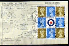 2008 'RAF UNIFORMS' MACHIN PANE FINE USED