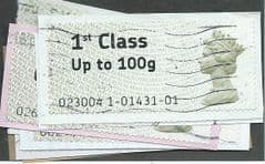 2009  10 X 1ST (UPTO 100g)' POST 'N' GO (LARGE FONT)  FINE USED