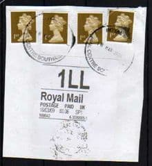 2009 1LL 'ROYAL MAIL' WHITE LABEL (THICK FONT)ON PIECE