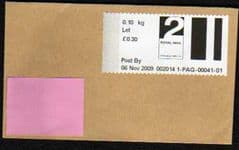 2009 2ND 'POST & GO -'(DARTFORD)(F.D) LABEL COVER