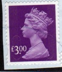 2009 £3.00 'SECURITY MACHINS' FINE USED