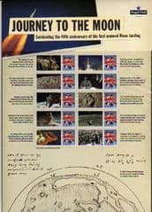 2009 '40TH ANN OF FIRST LANDING ON THE MOON' SHEET